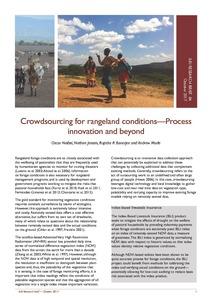 Crowdsourcing: an approach to revolutionize and improve rangelandmonitoring