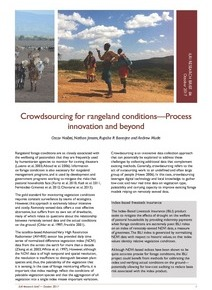 Crowdsourcing: an approach to revolutionize and improve rangeland monitoring